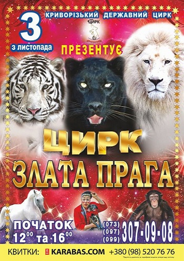 Купить билет на Цирк «Злата Прага» в Криворожский государственный цирк Зал