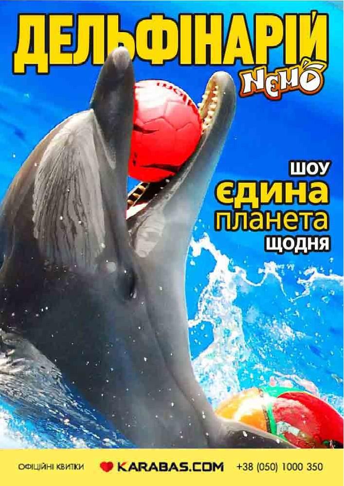Купить билет на Дельфинарий «NEMO». Шоу «Единая планета» в Харьковский дельфинарий «NEMO» Новый