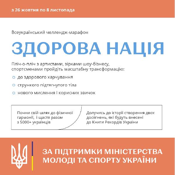 Всеукраїнський онлайн-марафон «Здорова Нація»