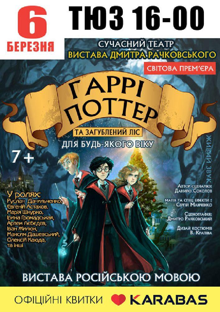 Купить билет на Гарри Поттер в КЗК СОР Театра для детей и юношества Центральный зал