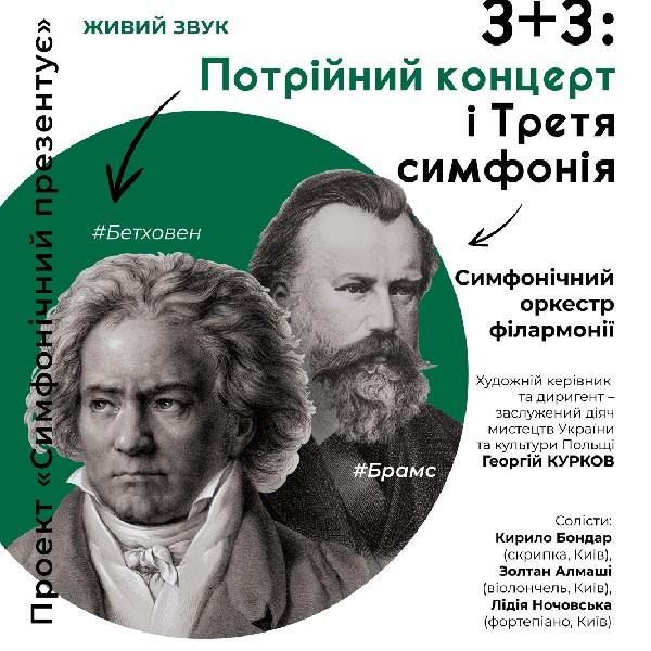 3 плюс 3: Потрійний концерт і Третя симфонія