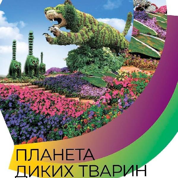 Виставка квітів «Планета диких тварин»